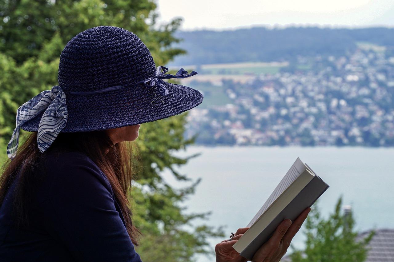 woman, read, sit